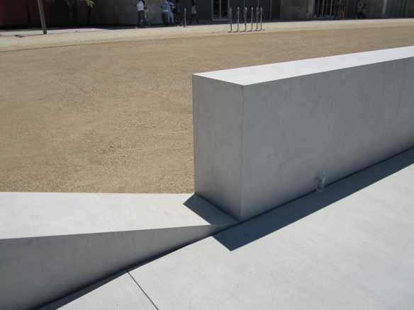Mass Concrete Wall Design : Michael heizer infrascape design
